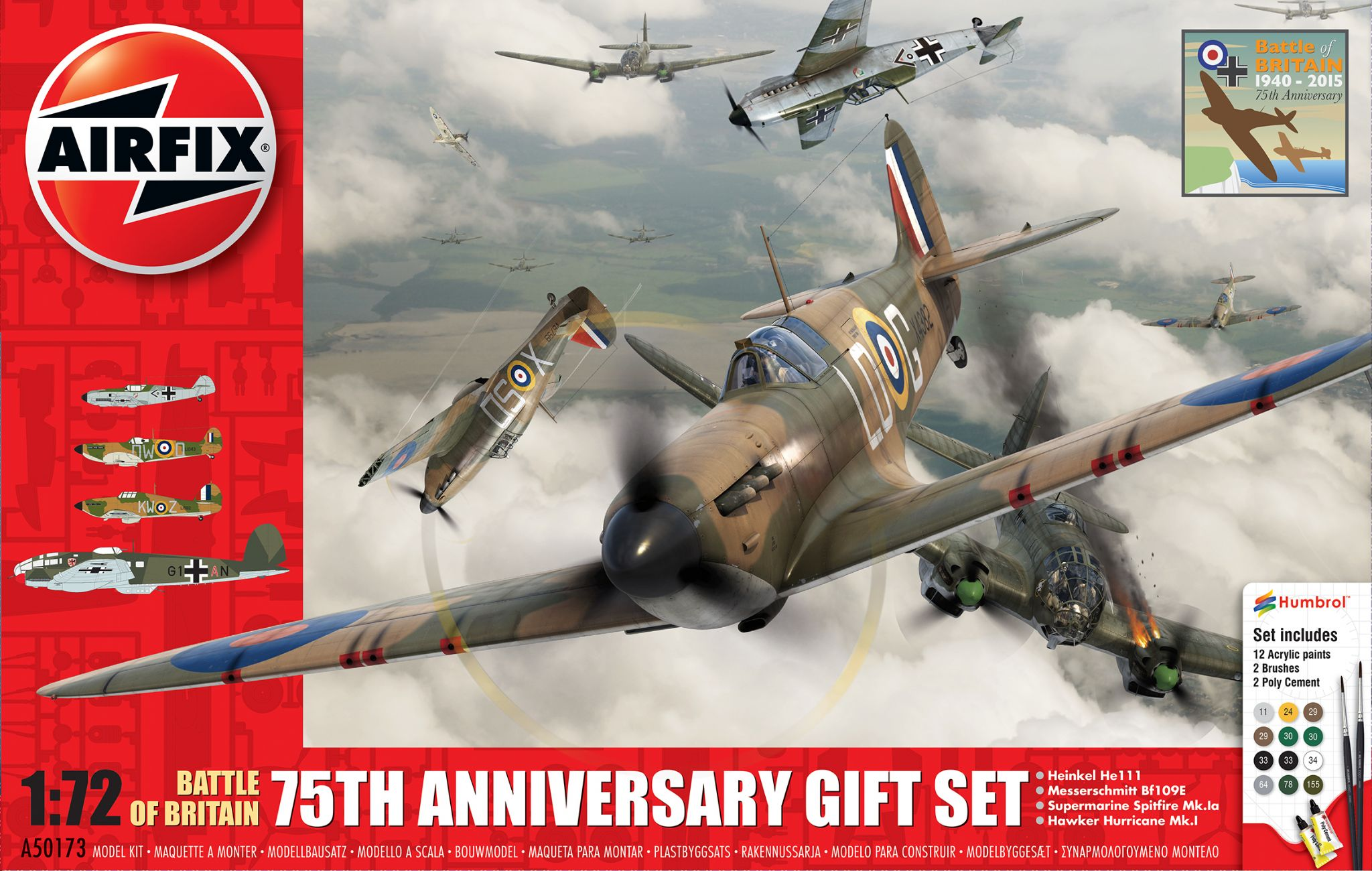 airplane models kits with Airfix A50173 Battle Of Britain 75th Anniversary Set 4 Planes 172 7340 P on Esm Do 335 Pfeil likewise B 24dliberator furthermore 16539 together with Pitts S 2 in addition 131592454695.