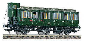 Fleischmann HO 5065: DB 1st/2nd class compartment coach (AB-3 (BC3pr99)): Era 3