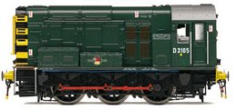 "Hornby R2903XS: Class 08 diesel - BR green with ""wasp strip"" ends: D3105: DCC SOUND"