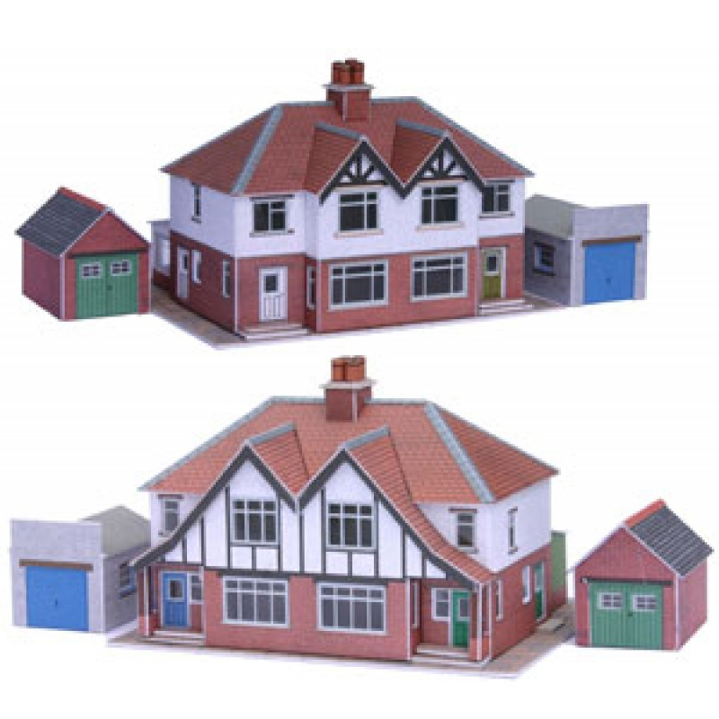 Metcalfe pn166 semi detached houses for Different models of houses