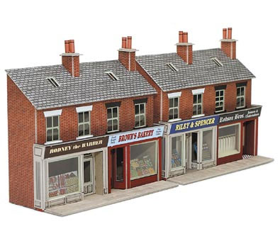 Metcalfe Po223 Low Relief Red Brick Shop Fronts